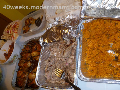 Puerto Rican Food Served at Baby Shower