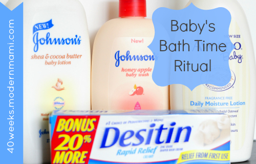 Baby's Bath Time Ritual, Plus Mother's Day Promotion from Johnson & Johnson and Walmart
